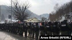 La protestul veteranilor la Doboj