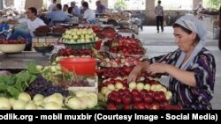 Дехканский рынок (базар) в Узбекистане.