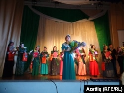 """""""Татар кызы"""" бәйгесендә җиңүче Алия Илаева"""