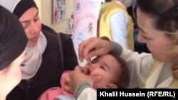 حملة تلقيح ضد مرض شلل الأطفال في سوريا