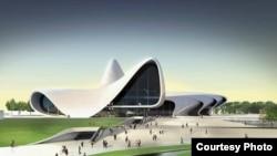 من تصاميم المعمارية البريطانية العراقية الاصل زها حديد في العاصمة الاذربيجانية باكو