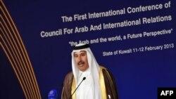 وزیر خارجه قطر در کنفرانس کویت