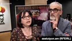 Ֆիլմի հեղինակներ Նարինե Մկրտչյանը և Արսեն Ազատյանը զրուցում են «Ազատության» հետ, Երևան, 26-ը սեպտեմբերի, 2019թ.