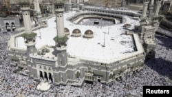 Меккедегі қажылар. Сауд Арабиясы, 19 қазан 2012 жыл.