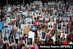 Марш пам'яті героїв-«панфіловців». Алмати, 2015 рік