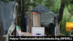 The makeshift Roma camp near Lviv was attacked just before midnight on June 23.