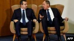 Ministar spoljnih poslova Srbije Ivica Dačić i šef diplomatije Rusije Sergej Lavrov u Beogradu