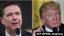 Fostul director FBI, James Comey, și președintele american Donald Trump