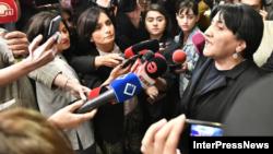 Слова бывшего генсека мобилизовали лидера партии «Альянс патриотов», вице-спикера Ирму Инашвили