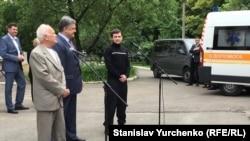 Юрій Солошенко, Геннадій Афанасьєв, Петро Порошенко в Києві, 14 червня 2016 року