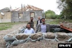 Азербайджан, Тертер, импровизированное укрытие от артиллерийских обстрелов со стороны Нагорного Карабаха