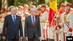 Herman Van Rompuy şi Nicolae Timofti, Chişinău, 13 mai 2014