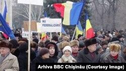 6 января 2003 года, протест против федерализации