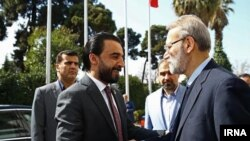 Ali larijani, parliament speaker met with raq's youngest-ever speaker of parliament Mohammed al-Halbusi