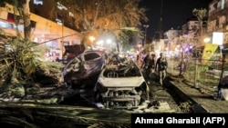Последствия удара по пригороду Тель-Авива.