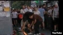 14 июля 2010 года. Акции националистов, поминавших своего погибшего товарища, правоохранительные органы не мешали.