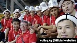 Кыргызстандын волейбол боюнча улуттук курама командасынын оюнчулары Азиянын аймактык чемпионатында (борбордук зона).