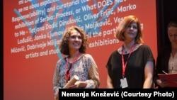 Tatjana Dadić Dinulović i Mia David na dodeli nagrada