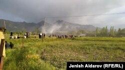 Местность в Баткенской области, на границе с узбекистанским анклавом Сох, где произошел конфликт. 31 мая 2020 г.