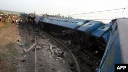 Место железнодорожной катастрофы