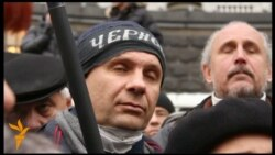 Украинские чернобыльцы пикетируют правительство