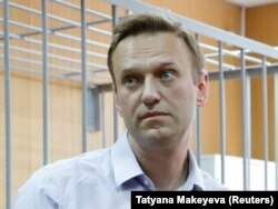 Russian opposition leader Aleksei Navalny in court earlier this month.