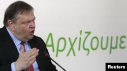 Лидерот на ПАСОК Евангелос Венизелос.