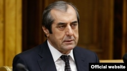 Mahmadsaid Ubaidulloev, the current chairman of Tajikistan's upper house of parliament. (file photo)