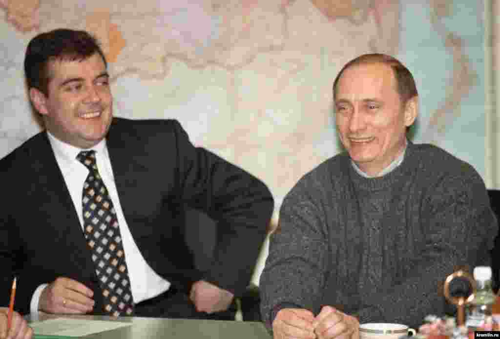Medvedev moved into politics in the 1990s in the city government of St. Petersburg, where he worked closely with Putin, pictured here on March 26, 2000. Putin appointed Medvedev to a senior position in Moscow in 1999 when he became prime minister under Boris Yeltsin, then named Medvedev to lead his first presidential campaign the following year.