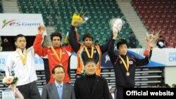 قهرمانی تیم کشتی آزاد ایران در مسابقات قهرمانی آسیا در کره جنوبی