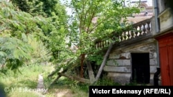 """Curtea interioară în vecinătatea Casei Memorială """"G. Enescu"""""""