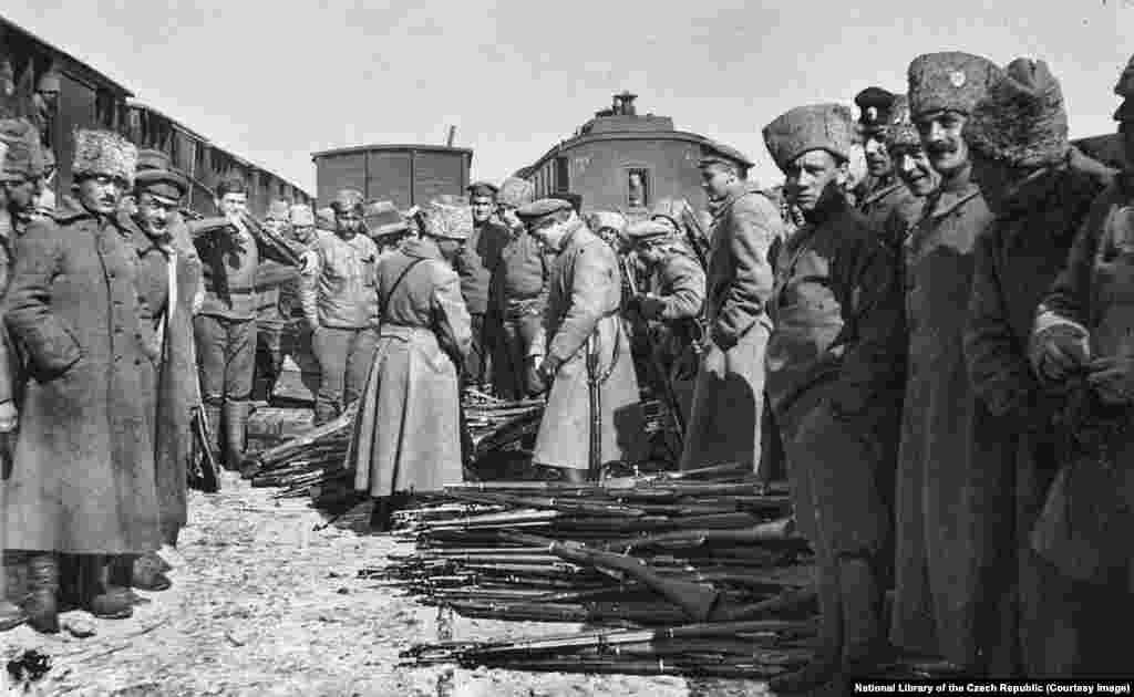 The legion cut a deal with Josef Stalin, then a Bolshevik leader, who promised safe passage if the Czechs and Slovaks surrendered most of their weapons.