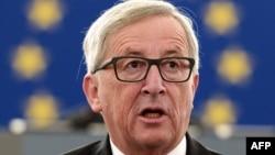 Еуропа комиссиясының төрағасы Жан-Клод Юнкер. Страсбург, 9 қыркүйек 2015 жыл.