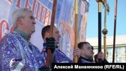 """Участники """"молитвенного стояния"""" в Новосибирске. 29 марта"""