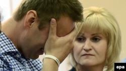 Alexei Navalnîi la aflarea sentinței