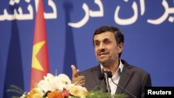 "Iranian President Mahmud Ahmadinejad said Western powers were ""looking for excuses"" and trying to ""waste time"" by refusing to engage in preparatory talks with Iran."
