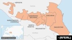 Şimali Qafqazın xəritəsi