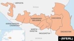Къилбаседа Кавказан карта.