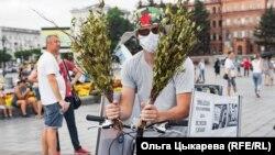 """""""Привет"""" от участников митинга любителю париться в бане Михаилу Дегтяреву"""
