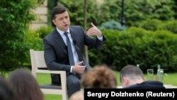 Владимир Зеленский во время пресс-конференции. Киев, 20 мая 2020 года