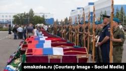 Похороны жертв трагедии в поселке Светлый