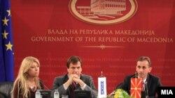 Амбасадорот Хозе Луис Хереро и вицепремиерот задолжен за рамковен договор Абдулаќим Адеми