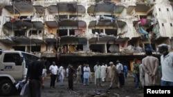 بمبگذاری در محله مسکونی «عباس» در کراچی