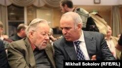 Витаутас Ландсбергис и Гарри Каспаров на Форуме свободной России