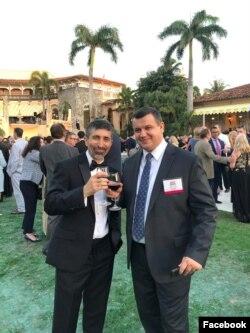 Ionel Roiban și Eugen Tomac, liderul PMP, în Florida.