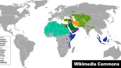 Popullata shiite dhe sunite në botë