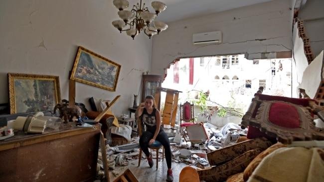 Brenda shtëpive të shkatërruara në Bejrut