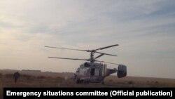 Действующий в районе тушения пожара вертолет. Иллюстративное фото.