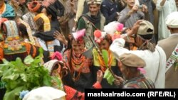 Kalash tribe celebrating spring with dance.