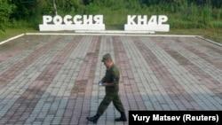 Ділянка кордону Росії і КНДР в селищі Туманган